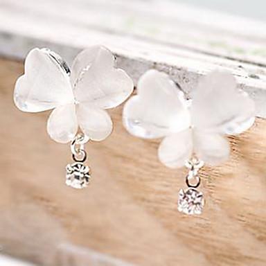 Pentru femei Diamant sintetic Cercei Picătură Fluture Animal Ieftin femei Design Unic stil minimalist Ștras cercei Bijuterii Alb Pentru Petrecere Zilnic