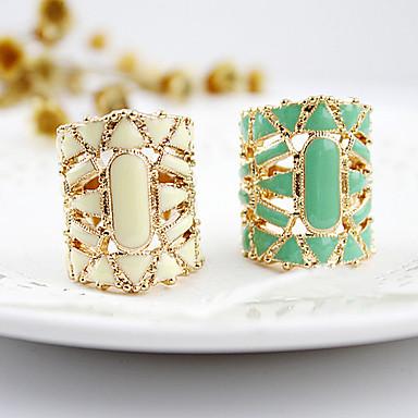 رخيصةأون خواتم-نسائي خاتم البيان أبيض أسود أخضر أكريليك سبيكة سيدات الآسيوي موضة مناسب للبس اليومي مجوهرات