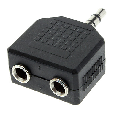 3.5mm Masculin la Dual Split, Adaptor femeie Audio