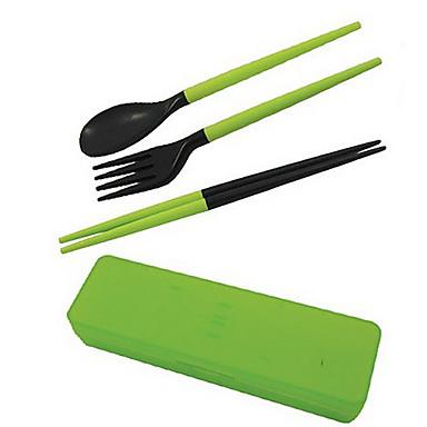 abs tacamuri din plastic trei piese portabile pliere cină vesela de camping de camping