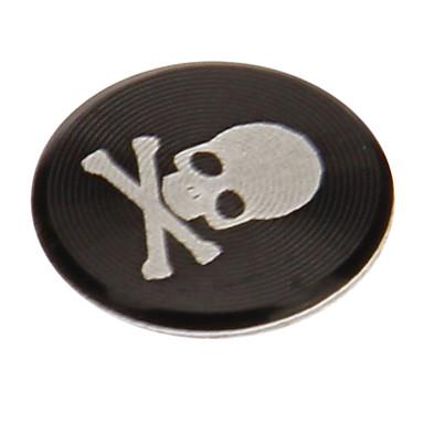 olcso Mobiltelefon amulettek-koponya nyomtatás ötvözet fekete otthoni gomb matrica az iphone / ipad / ipod