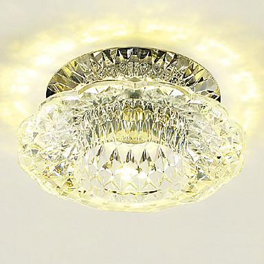 LightMyself™ Montaj Flush Lumină Spot Cristal, Stil Minimalist, LED 110-120V / 220-240V Alb Cald / Alb Rece / LED Integrat