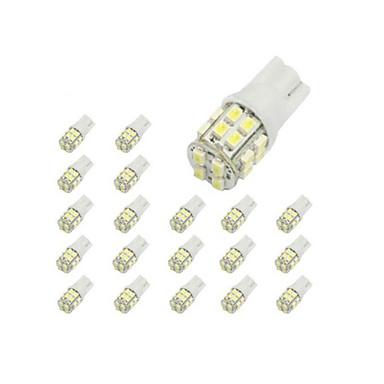 voordelige Autoverlichting overdag-LORCOO 10 stuks T10 Automatisch Lampen 2 W 40 lm 20 LED Interior Lights / 6000 / 8000