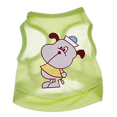 Câine Tricou Îmbrăcăminte Câini Desene Animate Verde Bumbac Costume Pentru Vară