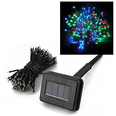 hkv® 22m 200 condus solar în aer liber rgb șir lumina senzor de decorare grădină patio gazon de vacanță Crăciun nunta petrecere noapte fâșii lampă