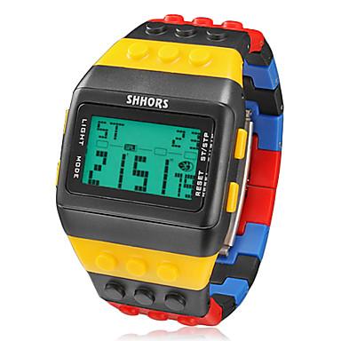 Bărbați Ceas de Mână Ceas digital Digital Cauciuc Multicolor Alarmă Calendar Cronograf Piloane de Menținut Carnea Charm - Negru / Galben Doi ani Durată de Viaţă Baterie / LCD / Maxell CR2025