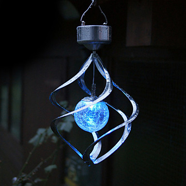 Color Changing Solar Led Saturn Wind Spinner Hanging
