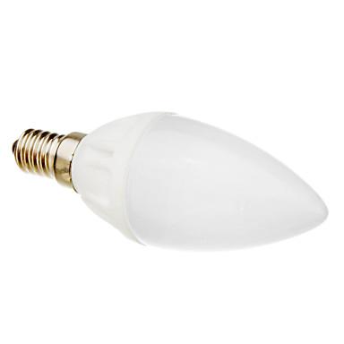 1 buc 3 W Becuri LED Lumânare 270 lm E14 C35 10 LED-uri de margele SMD 3328 Alb Cald 220-240 V / RoHs