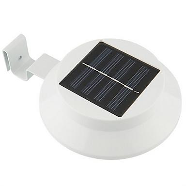 3 LED-uri de economisire a energiei solare Garden Yard gard perete modalitate lampa în aer liber