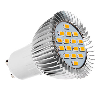 Spoturi LED 420-450 lm GU10 16 LED-uri de margele SMD 5730 Alb Cald 220-240 V / #