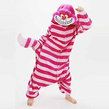 994e1e7814 Per adulto Pigiama Kigurumi Gatto del Cheshire Fantasia animale Pigiama a  pagliaccetto Vello di corallo Rosso Cosplay Per Uomini e donne Pigiama a  fantasia ...