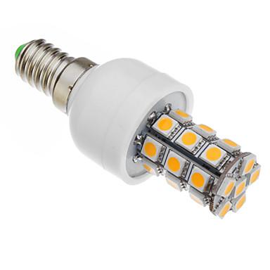 Becuri LED Corn 530-560 lm E14 T 27 LED-uri de margele SMD 5050 Alb Cald 85-265 V