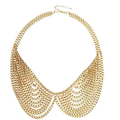 (1 buc) de moda de aur guler aliaj colier (aur)