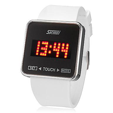 SKMEI Bărbați Ceas de Mână Ceas digital Piața de ceas Digital Silicon Negru / Alb Touch Screen Calendar LED Piloane de Menținut Carnea femei Charm - Alb Negru Doi ani Durată de Viaţă Baterie