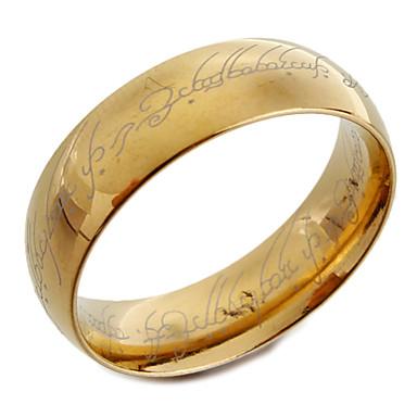 رخيصةأون خواتم-رجالي عصابة الفرقة ذهبي الصلب التيتانيوم موضة هدايا عيد الميلاد مناسب للبس اليومي مجوهرات