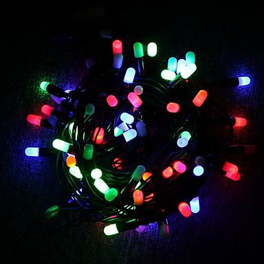 Fâșii de Iluminat 30 LED-uri Dip Led Multicolor Decorativ / Crăciun decor de nunta 4 V 1 buc / IP44