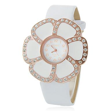 020e3b3962a Feminino Flor Dial pulseira de couro Quartz Analógico Resistente à água  relógio de pulso de 872060 2019 por €6.99