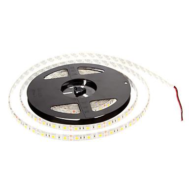 zdm 1pc impermeabil ip65 5m lumini șir 300 x 5050 LED-uri calde alb auto-adeziv flexibil condus benzi de lumină dc12v