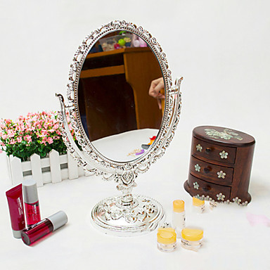 Oglindă De Masă Metal Oval, Calitate superioară Oglindă 20.6*5.0*31.5 cm