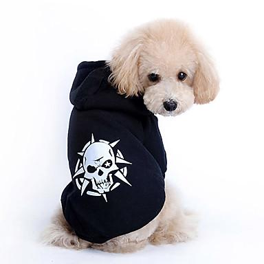 رخيصةأون ملابس وإكسسوارات الكلاب-كلب هوديس ملابس الكلاب كوستيوم قطن جماجم موضة XS S M L XL