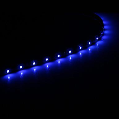 0.5m Fâșii De Becuri LEd Flexibile 15 LED-uri 1210 SMD Alb / Albastru Potrivite Pentru Autovehicule / Auto- Adeziv 12 V 1 buc