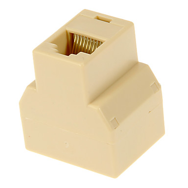 povoljno Ethernet kablovi-RJ45 Ženski do 2 Utićnica Beige
