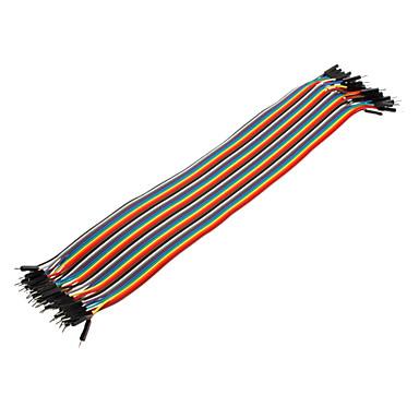 40pin 1P-1P Male către Male Dupont linie colorat Dupont Wire (30cm)