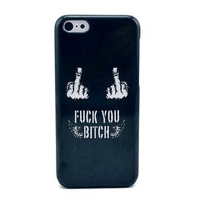 voordelige iPhone 5c hoesjes-Fuck Off Black Hard Case voor iPhone 5C