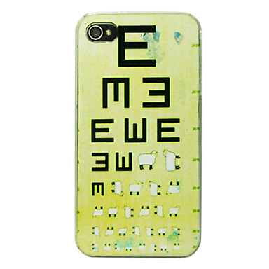 Sheep Eye Chart Pattern Back Case For Iphone 44s 921878 2018 499