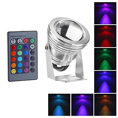 1pc 10w rgb moda impermeabil condus proiector fântână piscină lampă lumina reflectoarelor ip65 ac / dc12v