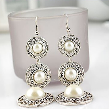 ieftine Bijuterii de Damă-Pentru femei Cercei Picătură Candelabru Stilul Folk Perle Imitație de Perle cercei Bijuterii Roz auriu / Alb Pentru