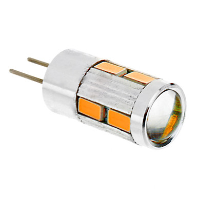 1.5 W Becuri LED Corn 2500 lm G4 T 10 LED-uri de margele SMD 5730 Alb Cald 12 V