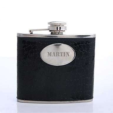cadou de Ziua negru 5 uncii pu majuscule piele tatălui personalizate de vas