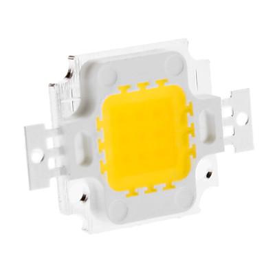baratos LED Super Sale-Diy 10w 820-900lm 900ma 3000-3500k luz branca quente módulo de led integrado (9-12 v)