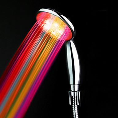 olcso LED zuhanyfej-abs víztelenített színváltó vezető kézizuhany kiváló minőségben
