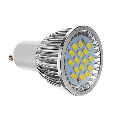 olcso Tömeges LED fényforrások-4 W LED szpotlámpák 350-400 lm GU10 16 LED gyöngyök SMD 5730 Hideg fehér 85-265 V / CE