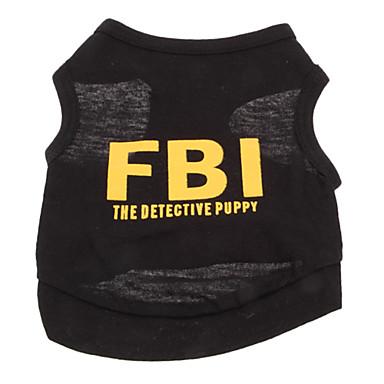 رخيصةأون ملابس وإكسسوارات الكلاب-كلب T-skjorte ملابس الكلاب متنفس أسود أسود وأصفر. أصفر كوستيوم قطن Police / Military مطبوعة بأحرف وأرقام عطلة موضة XS S M L