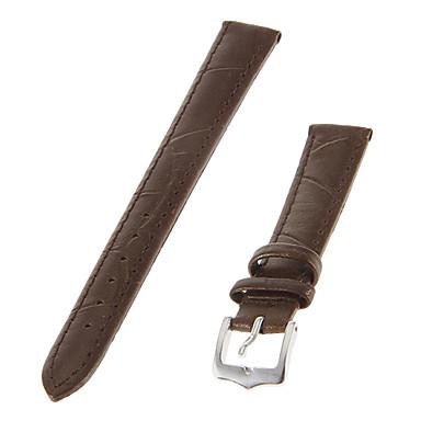 ieftine Accesorii Ceasuri-Femei 14mm Piele ceas Band (Brown)