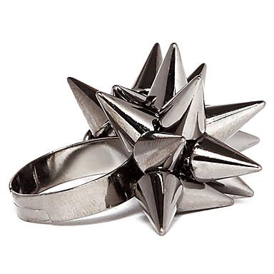Pentru femei Band Ring Alb Negru Auriu Aliaj Neobijnuit Design Unic Zilnic Bijuterii Artizan Ajustabil