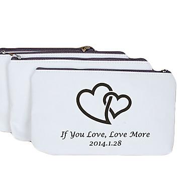 Personalizat model de cadouri inima cremă Canvas Change portmoneu