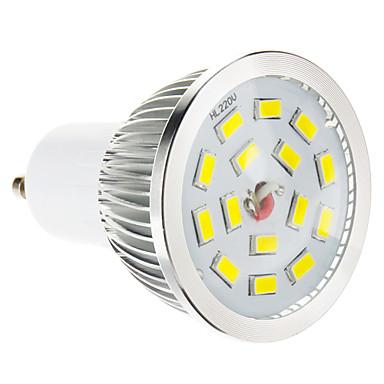 Spoturi LED 100-550 lm GU10 15 LED-uri de margele SMD 5730 Intensitate Luminoasă Reglabilă Alb Cald 220-240 V / #