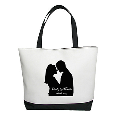 Personalizat cadou Canvas Lovers model orizontal plat Tote Bag