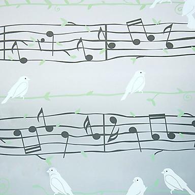 desen animat stil muzical note și porumbei film fereastră 1pc