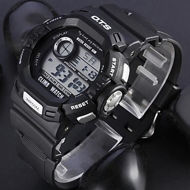 Bărbați Ceas Sport Digital Negru Rezistent la Apă Alarmă Calendar Piloane de Menținut Carnea / Cronograf / LCD