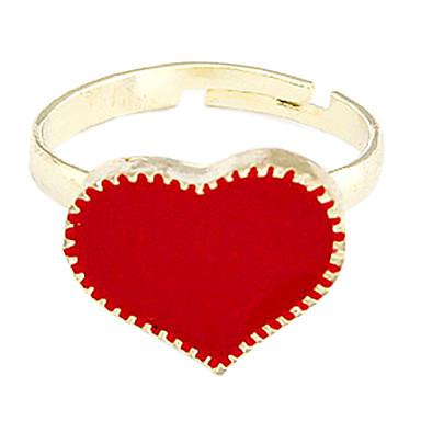 رخيصةأون خواتم-نسائي عصابة الفرقة أبيض أسود أحمر سبيكة مناسب للحفلات مناسب للبس اليومي مجوهرات قلب قابل للتعديل