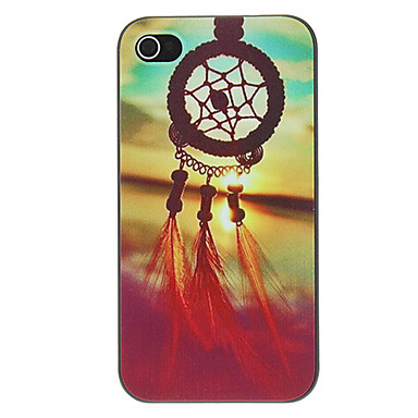 olcso iPhone tokok-Case Kompatibilitás iPhone 4/4S / Apple iPhone 4s / 4 Fekete tok Kemény PC