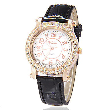 Pentru femei Diamond Watch Quartz Negru / Alb / Roșu Negru Maro Rosu