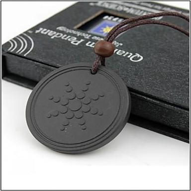 Недорогие Ожерелья-Муж. Жен. Вулканический камень Ожерелья с подвесками Черный Ожерелье Бижутерия Назначение Повседневные Спорт