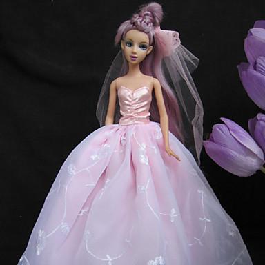 Lalka Barbie Różowa Suknia ślubna Księżniczka Barbie 1137814 2019