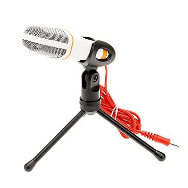 olcso Mikrofonok-666 3,5 mm-es sztereó konzol kiváló minőségű ktv mikrofon (fehér) vezetékes karaoke mikrofon